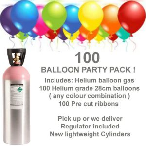 100 balloon helium gas kit