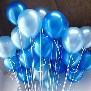 helium balloons blue and light blue