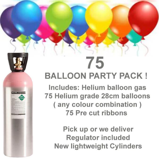 75 Balloon Helium Gas Kit