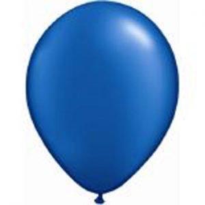Metallic Blue Latex 28cm Balloons