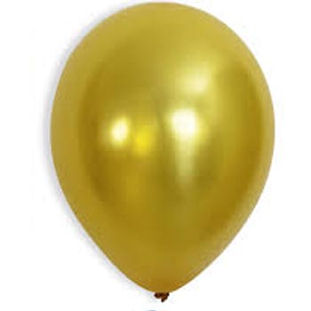Metallic Gold latex 28cm balloons
