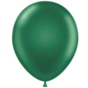 Metallic Green Latex 28cm Balloons
