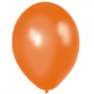 Metallic Orange Latex 28cm Balloons