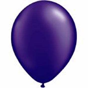 Metallic purple 28cm latex balloons