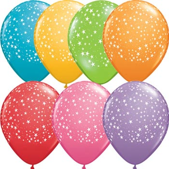 stars around mix 28cm balloons