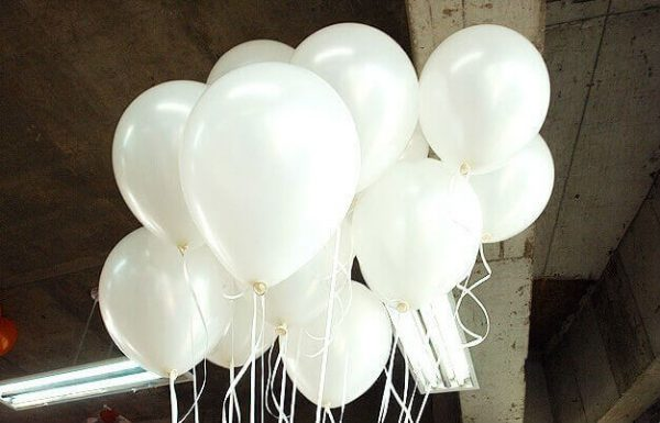 Helium Balloons White Bunch