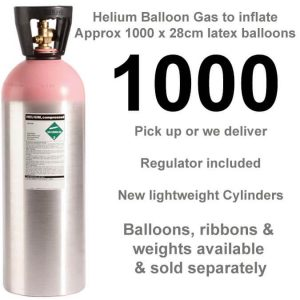 1000 balloon helium gas cylinder