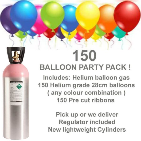 150 Balloon Helium Gas Kit