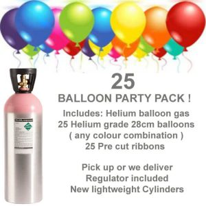 25 Balloon Helium Gas Kit