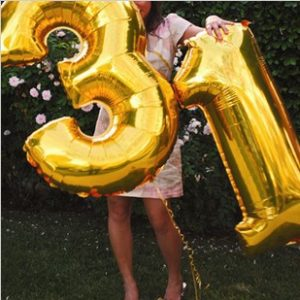 Foil Balloon Numbers