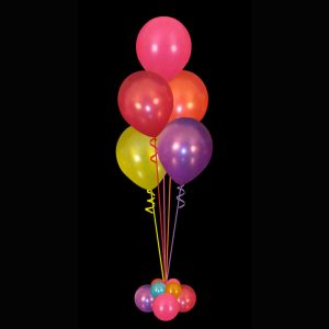 Bouquet of 5 helium balloons multicoloured