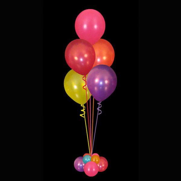 Bouquet of 5 helium balloons multicoloured