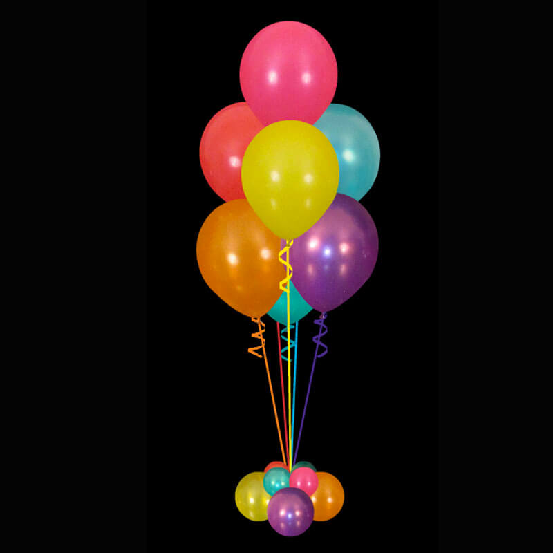Helium balloon bouquets perfect for parties functions and for Helium balloon centerpieces