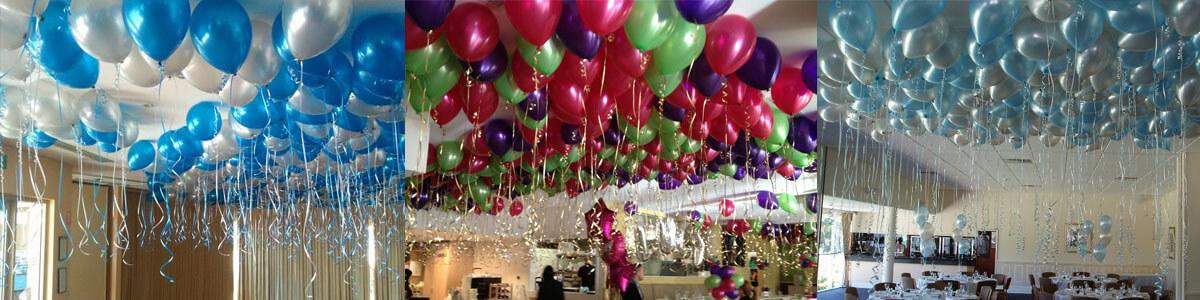 helium balloon banner