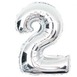 NUMBER 2 1 METRE FOIL BALLOON