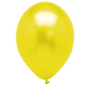 Metallic Yellow Latex 28cm Balloons