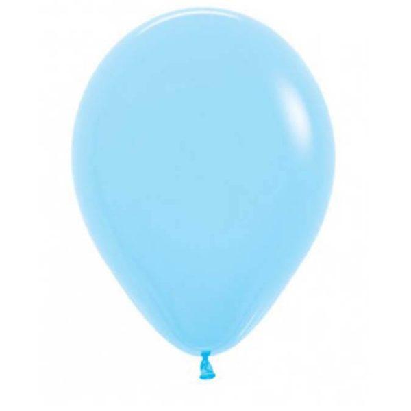 Light Blue 28cm latex balloons