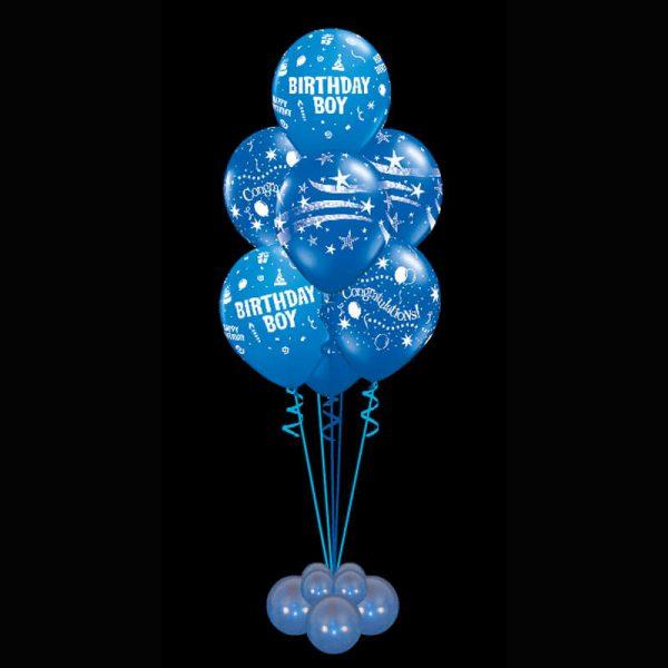 Bouquet of 7 birthday boy helium balloons2