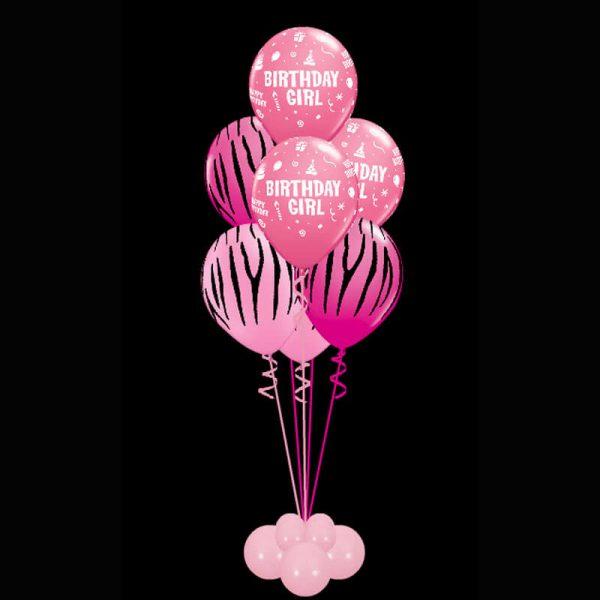 Bouquet of 7 birthday girl helium balloons2