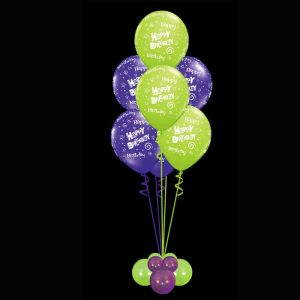 Bouquet of 7 happy birthday helium balloons2