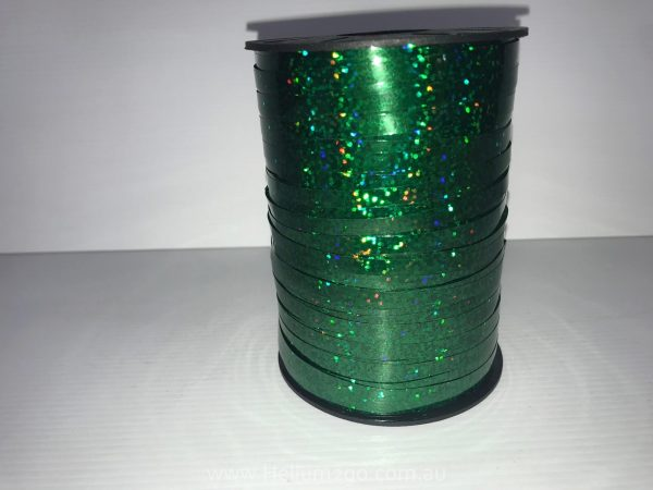 Green Holographic Curling Ribbon