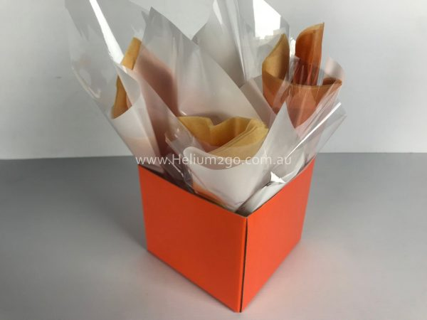 Orange Posy Box Weight