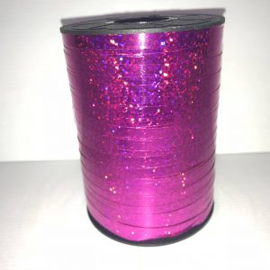 Hot Pink Holographic Curling Ribbon