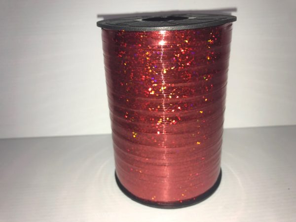 Red Holographic Curling Ribbon