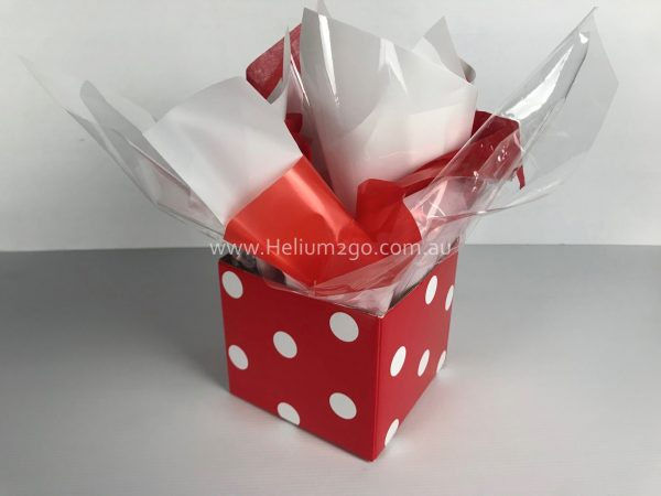 Red Polka Dots Posy Box Weight