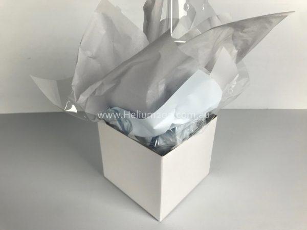 White Posy Box Weight