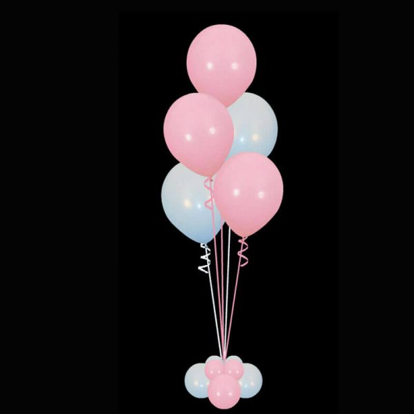 bouquet of 5 latex helium balloons