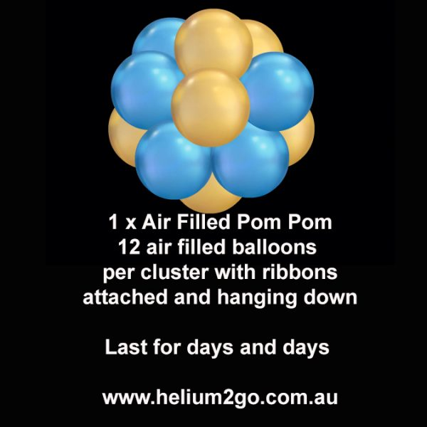 Air filled pom poms