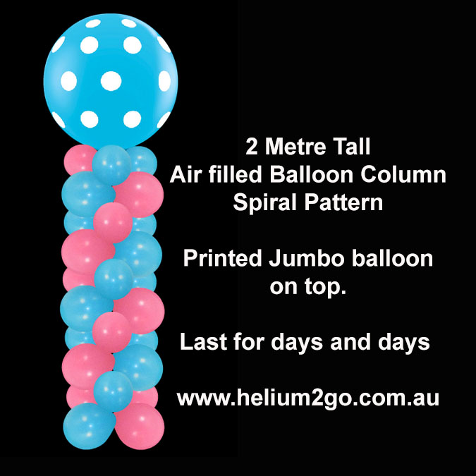 Balloon Column Air Filled Lasts For Days. Perfect Showroom