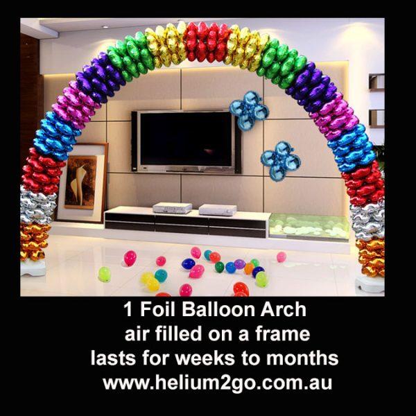 foil balloon arch