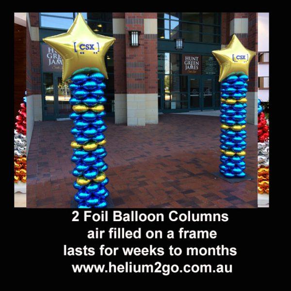 foil balloon columns