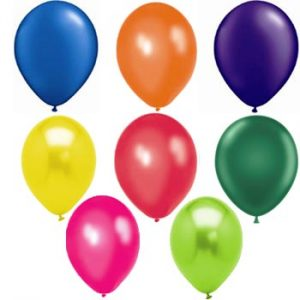 Assorted metallic mix 28cm latex balloons