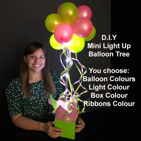 DIY Mini light up balloon tree2