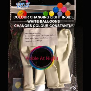 White balloon colour changing light