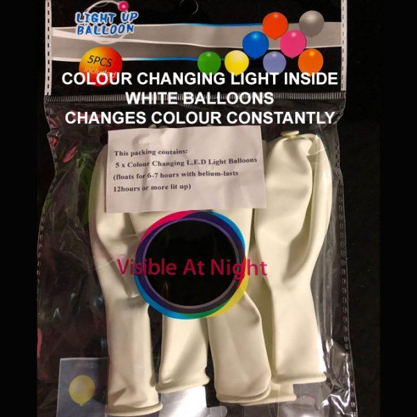 White balloon colour changing light