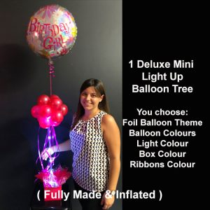 1 Deluxe Mini light up balloon tree