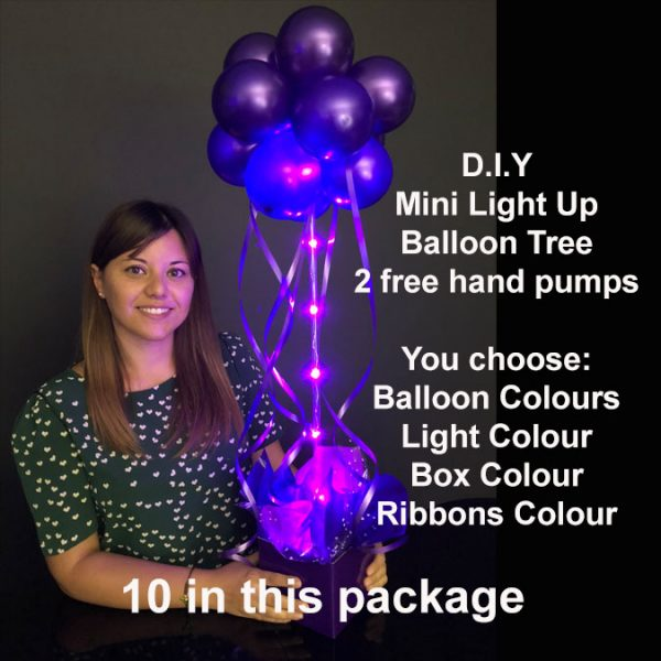 10 DIY Mini light up balloon trees