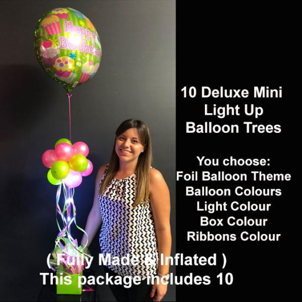 10 Deluxe Mini light up balloon trees