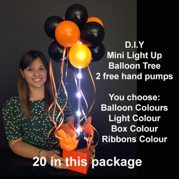 20 DIY Mini light up balloon trees