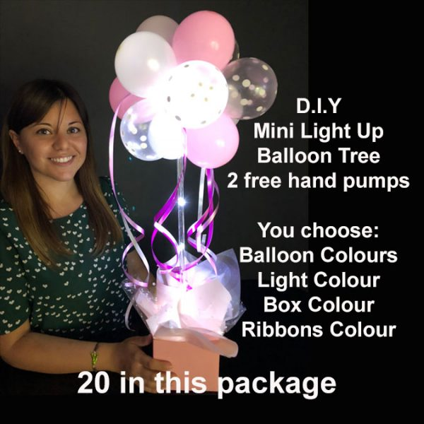 20 DIY Mini light up balloon trees2