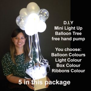 5 DIY Mini light up balloon trees