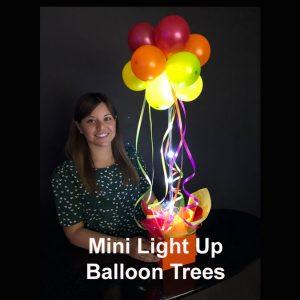Diy Light Up Mini Balloon Trees