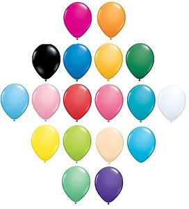 28cm latex balloons standard colour range