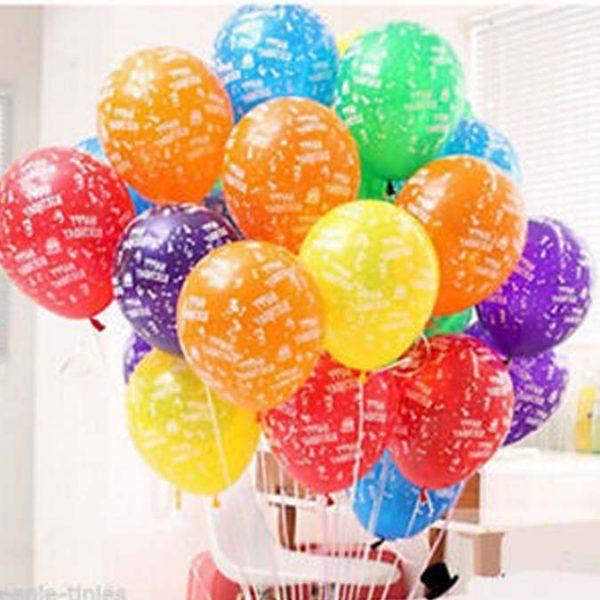 28cm printed balloons