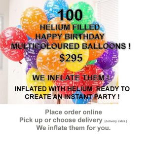 100 HB Balloons Inflated Special