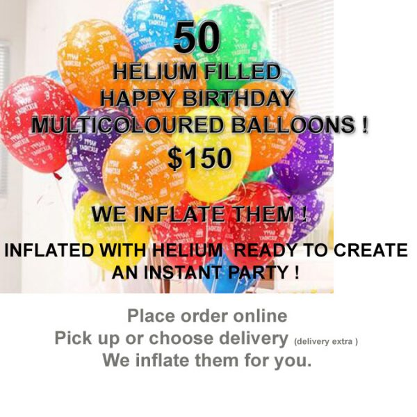 50 HB Balloons Inflated Special